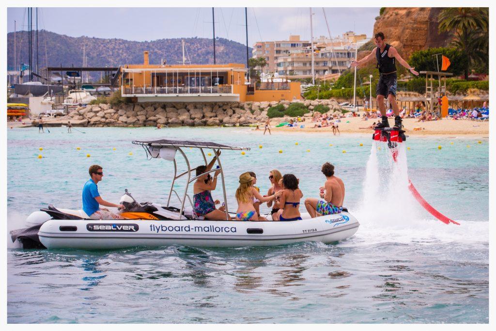 Junggesellenabschied Mallorca - Flyboard